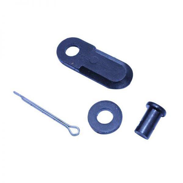 Комплект ножа косилки мотоблока: нож, палец, шплинт, шайбы